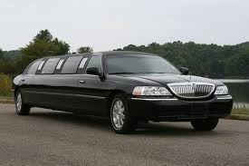 Black Stretched Limousine e